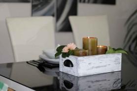 drevený rustikálny doplnok na stol