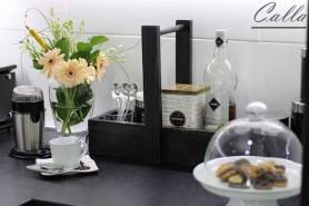 stolová dekorácia z dreva