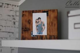 dreveny fotoramik