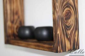 opálené drevo detail
