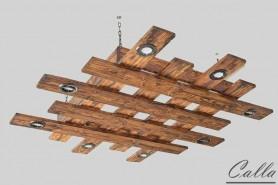 dreveny luster v obyvacke zavesny