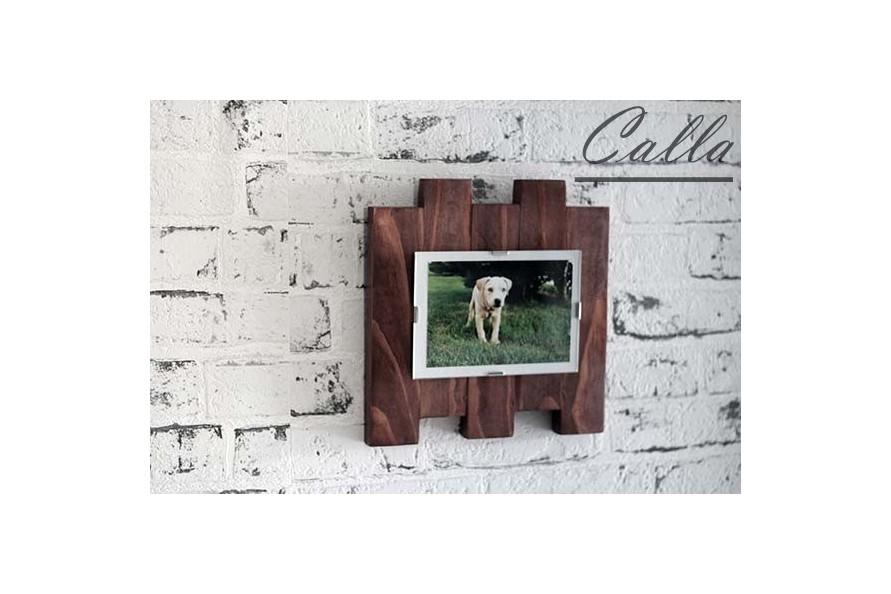 drevený fotorámik na stenu