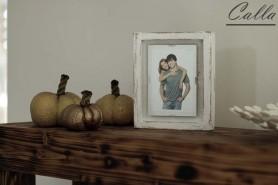 drevený fotorámik rustikálny s patinou