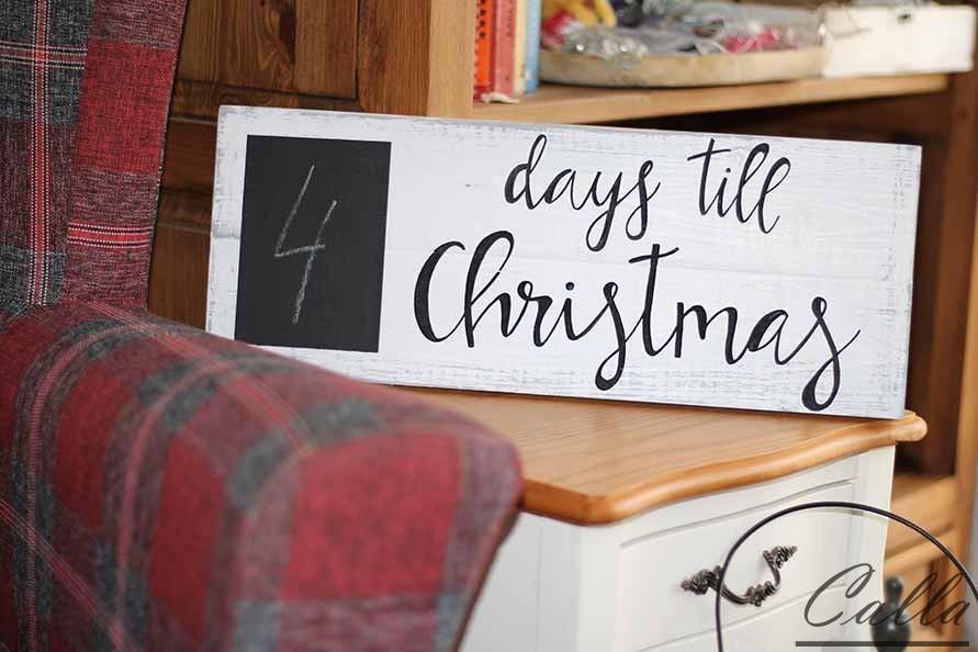 vianočná dekorácia odpočítanie dní do štedrého večera
