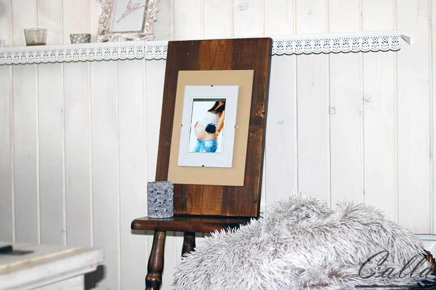 drevený rám na fotky rustikálny