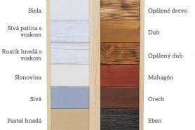 výber farby pre rustikálne dekorácie
