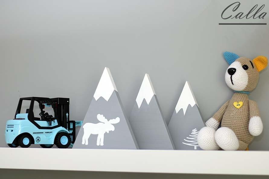 dekorácia drevené hory do detskej izby