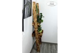 drevený handmade regál rustikálny