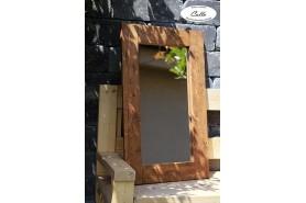 zrkadlo v zahrade drevene