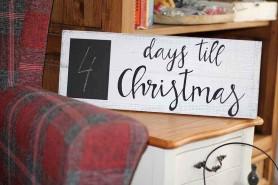 vianočná ozdobná tabuľa