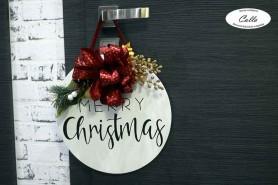 vianočná dekorácia na stenu