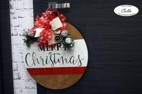 Drevená vianočná dekorácia...