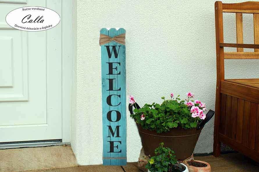 uvítacia tabuľa pred vchodové dvere