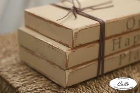dekoratívne knihy rustikálny doplnok