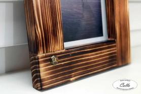drevený fotorámček peony