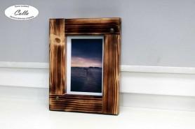 ručne vyrobený drevený fotorám