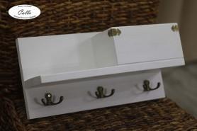 závesný vešiak na kľúče z dreva biely