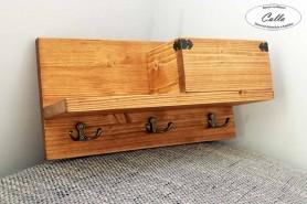 kvalitný drevený vešiak na kľúče farba orech