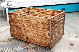 box na hracky farba opálené drevo