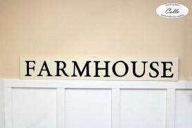 Napis na stenu z dreva FARMHOUSE