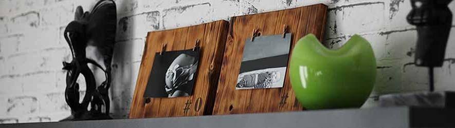Drevené handmade fotorámiky, maľované ručne, rustikálne fotorámy, rám na foto